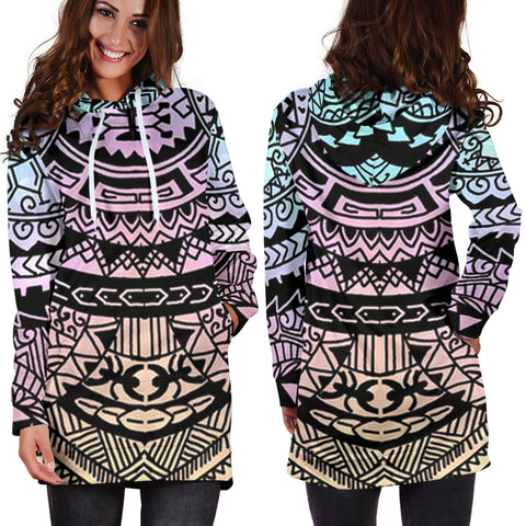 Image of Polynesian Tribal Hoodie Dress 04 - AH - J7 - Alohawaii