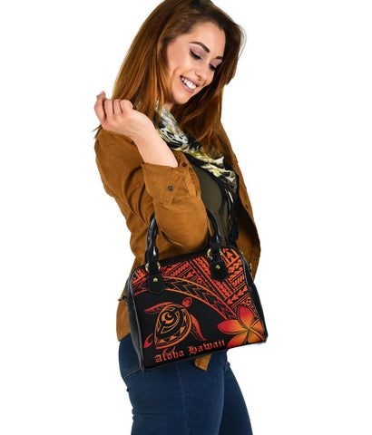Image of Aloha Hawaii Turtle Plumeria Shoulder Handbag AH J0 - Alohawaii