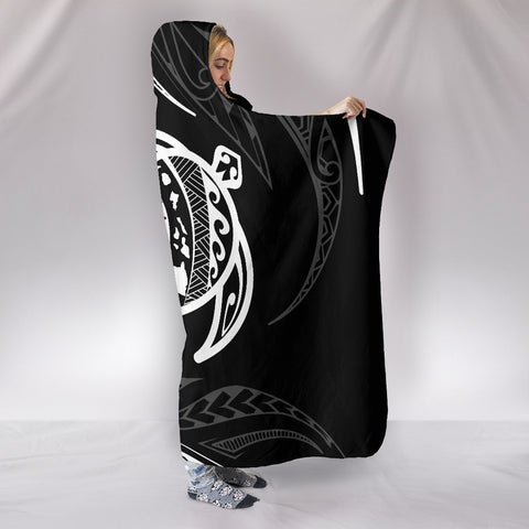 Hawaii Turtle Hooded Blanket - White - Frida Style - AH J91 - Alohawaii