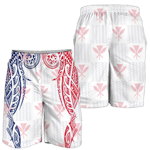 Hawaiian Kanaka Men's Shorts Flag Nation Demodern White