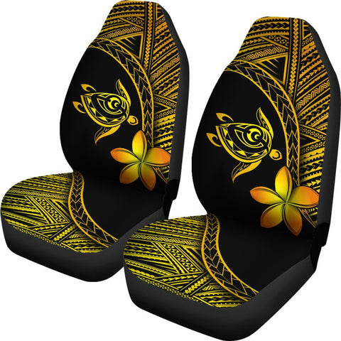 Alohawaii Car Seat Covers - Hawaii Turtle Plumeria Yellow - AH J0 - Alohawaii