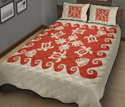 Hawaiian Quilt Bed Set Turtle Pattern