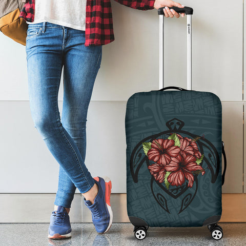 Hawaii Turtle Hibiscus Polynesian Luggage Covers - AH J4 - Alohawaii