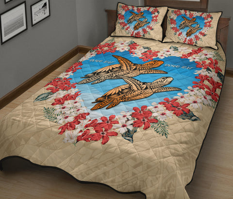 Hawaii Valentines Quilt Bed Set