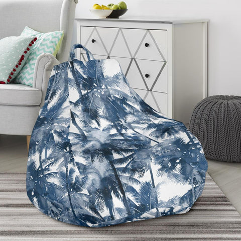 Image of Hawaii Palm Trees And Tropical Branches Bean Bag Chair - AH - J71 - Alohawaii