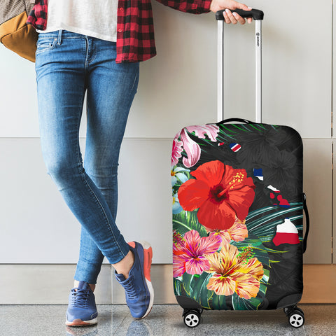 Alohawaii Luggage Covers - Hawaii Map Hibiscus
