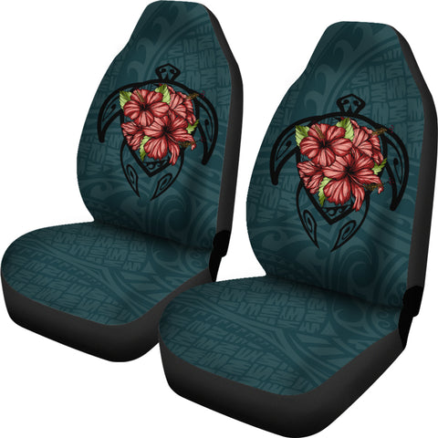 Image of Hawaii Turtle Hibiscus Polynesian Car Seat Covers