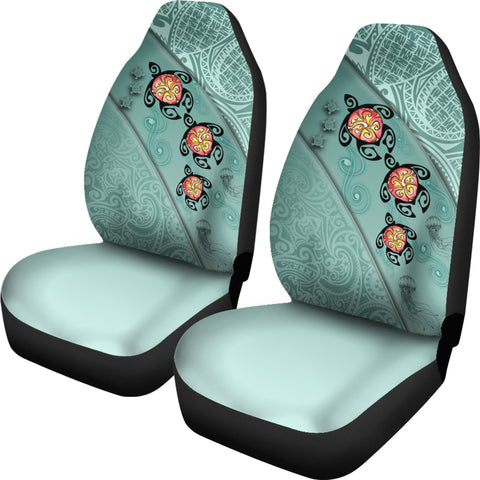 Hawaii Turtle Swimming Tribal Polynesian Car Seat Covers