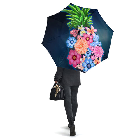 Pineapple Hibiscus Pattern Umbrella - AH - J1 - Alohawaii