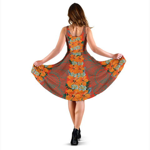Hawaii Tropical Flowers Polynesian - Hawaiian Women's Dress - Curtis Style