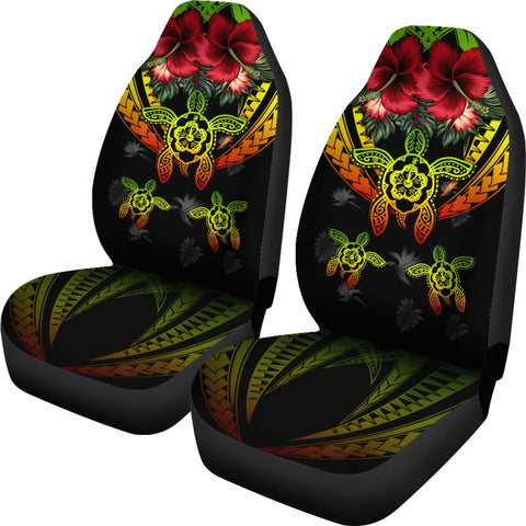 Hawaii Turtle Tropical Polynesian Car Seat Cover