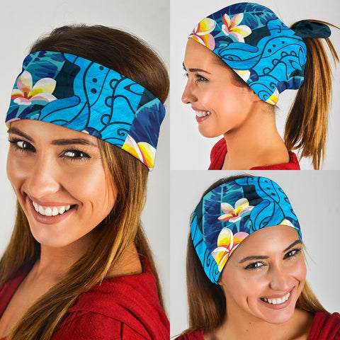 Image of Hawaiian Shappire Turtle Plumeria Unisex Bandana 3-Pack - AH J0 - Alohawaii