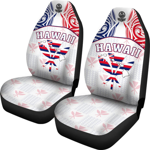 Hawaiian Kanaka Car Seat Covers Flag Nation Demodern White