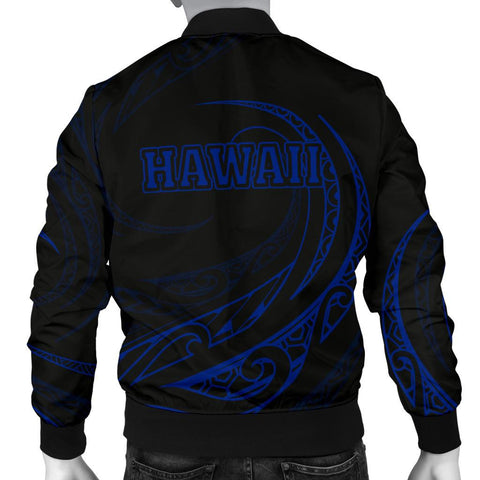 Image of Hawaii Coat Of Arms Polynesian Men's Bomber Jacket