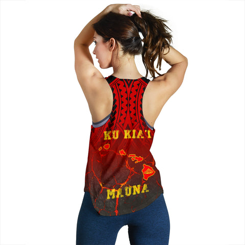 Image of Hawaiian Women's Racerback Tank - Protect Mauna Kea