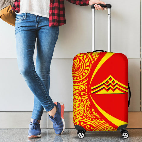 Hawaiian Mauna Kea Polynesian Luggage Covers - Circle Style -  AH - J9 - Alohawaii