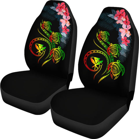 Image of Hawaii Turtle Polynesian Tropical Car Seat Cover - Cora Style Reggae - AH - J4