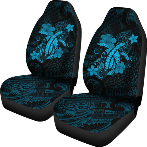 Image of Hawaii Turtle Flower Polynesian Car Seat Covers