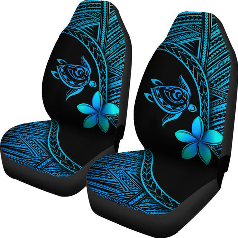 Alohawaii Car Seat Covers - Hawaii Turtle Plumeria Blue - AH J0 - Alohawaii