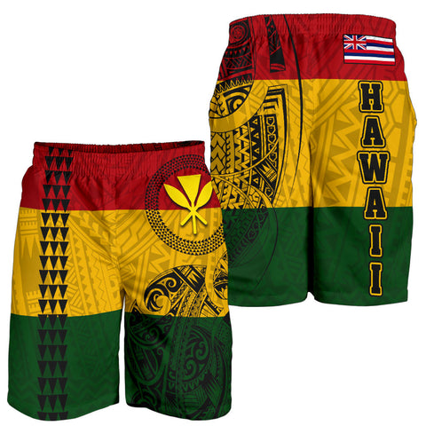 Image of Hawaii Kanaka Flag Polynesian Men's Shorts Limited Edition