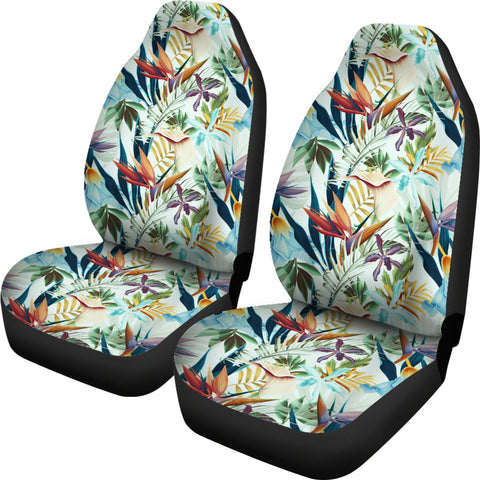 Image of Hawaiian Tropical Flower, Plant And Leaf Pattern Car Seat Cover - AH - J7 - Alohawaii