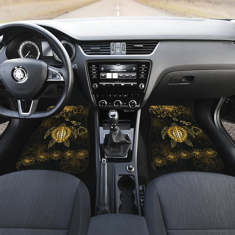 Hawaiian Turtle Hibiscus - Car Floor Mats - Flora Style