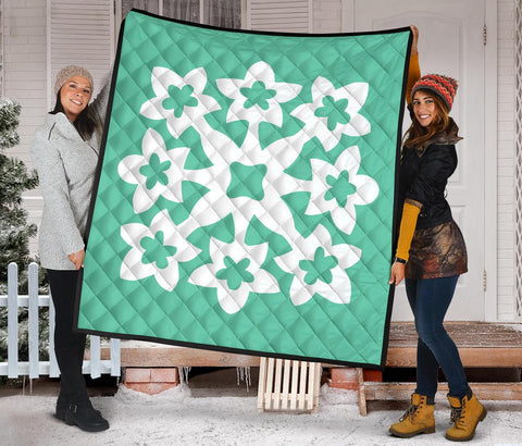 Image of Hawaiian Premium Quilt Royal Pattern - Seafoarm - A1 Style