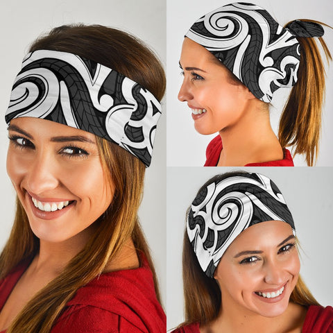 Image of Polynesian Maori Ethnic Ornament Gray Bandana 3-Pack - AH - J1 - Alohawaii