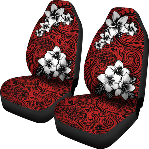 Alohawaii Car Seat Covers - Tribe Plumeria Red - AH J0 - Alohawaii