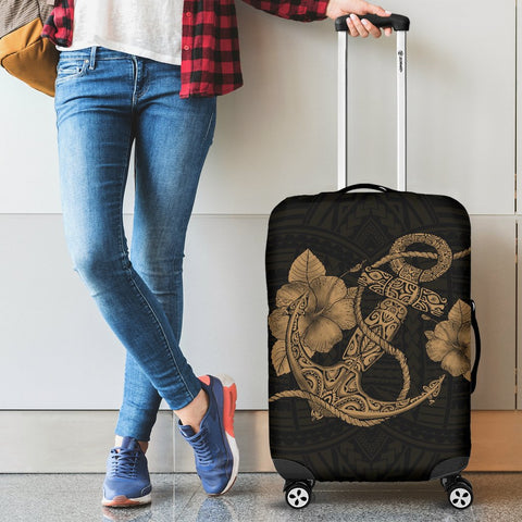 Anchor Gold Poly Tribal Luggage Covers - AH - J1 - Alohawaii