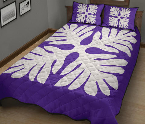 Hawaiian Quilt Bed Set Royal Pattern