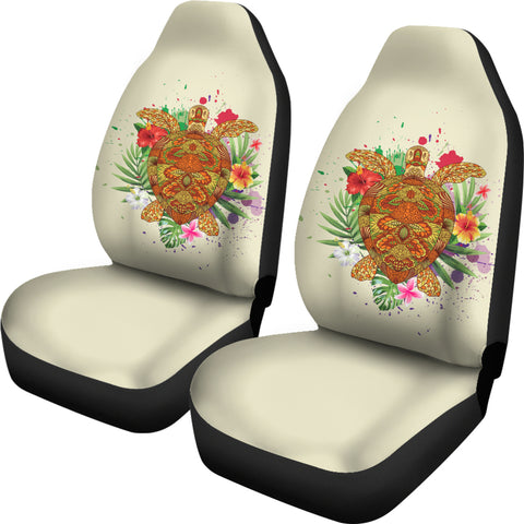 Hawaii Turtle Life Hibiscus Design Car Seat Covers