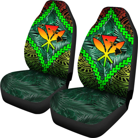 Image of Hawaii Kanaka Kakau Tropical Polynesian Car Seat Cover