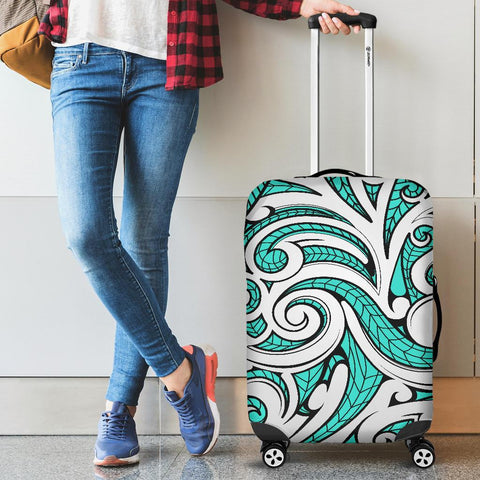 Polynesian Maori Ethnic Ornament Turquoise Luggage Covers - AH - J11 - Alohawaii