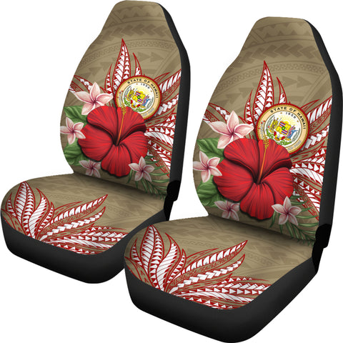 Hawaii Polynesian Coat Of Arm Tropical Car Seat Cover