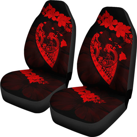 Image of Hawaii Hibiscus Banzai Surfing Car Seat Cover V2 Red - AH - J5 - Alohawaii