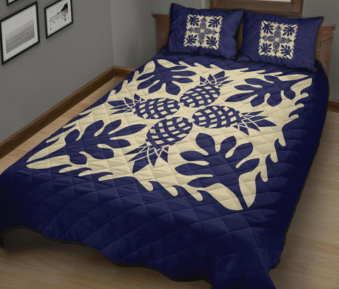 Hawaiian Quilt Bed Set Pineapple Pattern