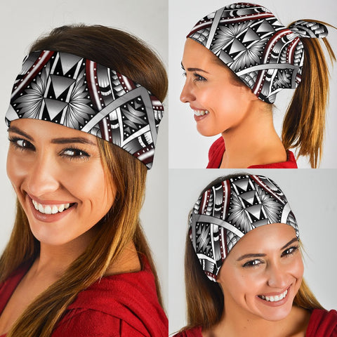 Hawaii Polynesian Tattoo Bandana 3 - Pack - White - AH - J5 - Alohawaii