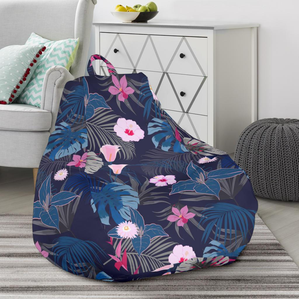 Prime Hawaii Tropical Palm Tree And Flower Bean Bag Chair Ah J71 Caraccident5 Cool Chair Designs And Ideas Caraccident5Info