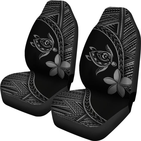 Image of Alohawaii Car Seat Covers - Hawaii Turtle Plumeria Grey - AH J0 - Alohawaii