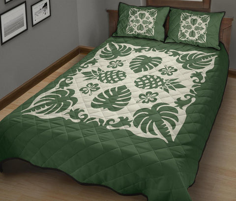 Image of Hawaiian Quilt Bed Set Coconut Tree Pattern