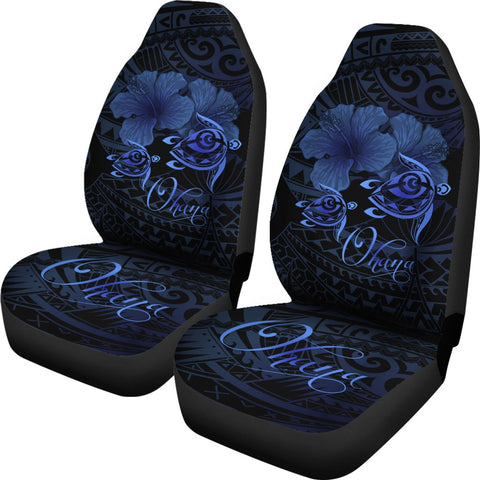 Image of Hawaii Turtle Ohana Hibiscus Poly Car Seat Covers