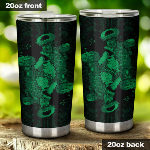 Hawaii Polynesian Hula Girl Tumbler Green - AH - J5 - Alohawaii