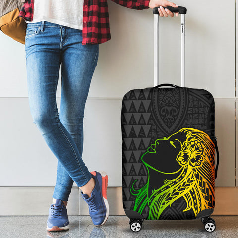 Hula Girl And Turtle Hibiscus Luggage Covers - AH J4 - Alohawaii