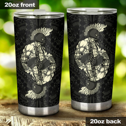 Hawaii Polynesian Warrior Tumbler Beige - AH - J5 - Alohawaii