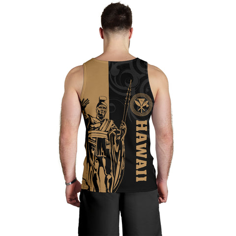 Hawaii King Polynesian Men's Tank Top - Lawla Style - AH - J4 - Alohawaii