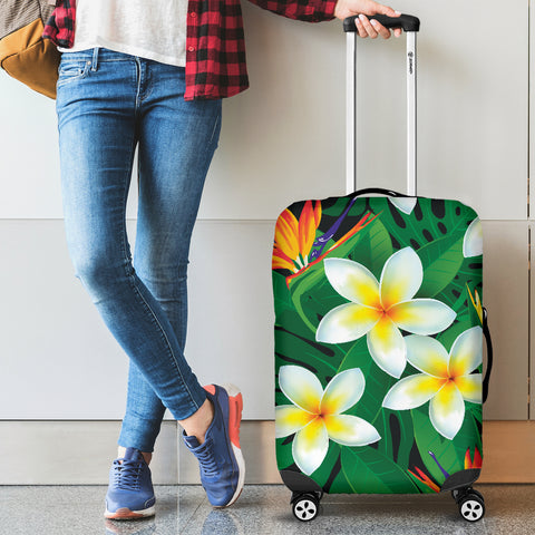 Plumeria Luggage Cover 01 - AH - J9 - Alohawaii