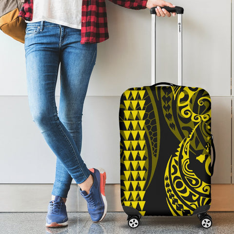 Image of Hawaii Kakau Yellow Polynesian Luggage Covers - AH - J1 - Alohawaii
