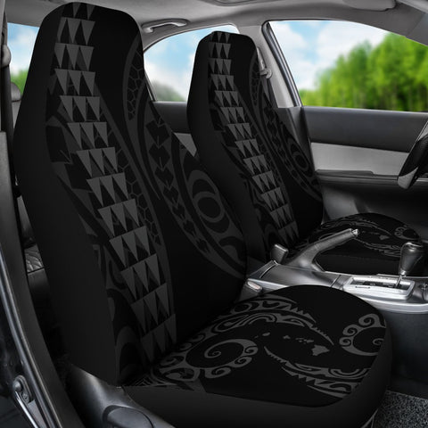 Hawaii Kakau Gray Polynesian Car Seat Covers - AH - J1 - Alohawaii