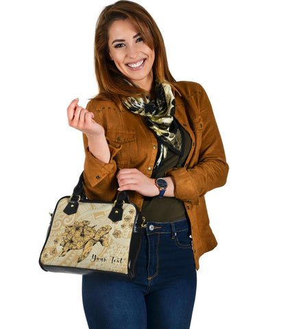 Personalized - Hawaii Turtle Polynesian Shoulder Handbag - Beige - AH - J4 - Alohawaii